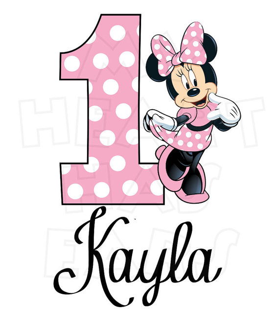 570x631 Minnie Mouse Hot Or Light Pink Birthday Image Personalized
