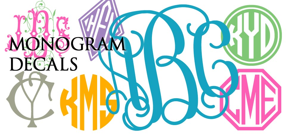 980x450 Monogram Custom Clipart