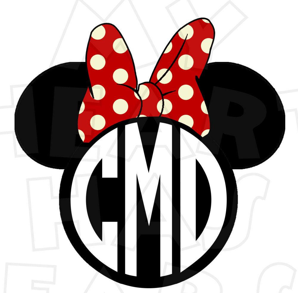 1000x983 Disney Monogram Clipart
