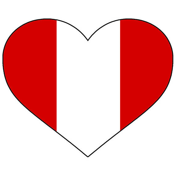 570x570 Peru Heart Shaped Flag Peruvian South America Country World
