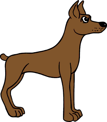 352x400 Clip Art Of A Dog Clipart Image