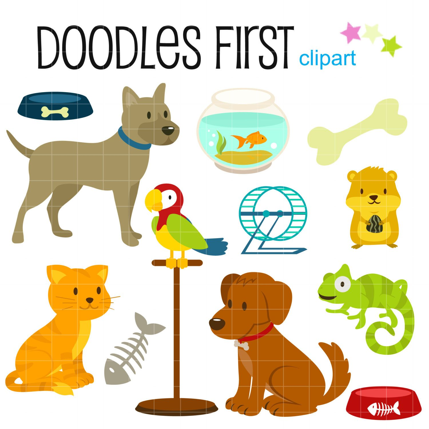 1500x1500 Clipart Picture Of Pet Animals