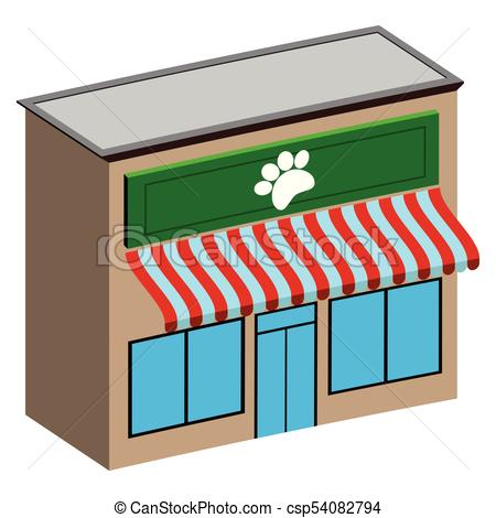 450x470 Isolated Pet Shop. 3d View Of A Pet Shop, Vector Eps Vectors