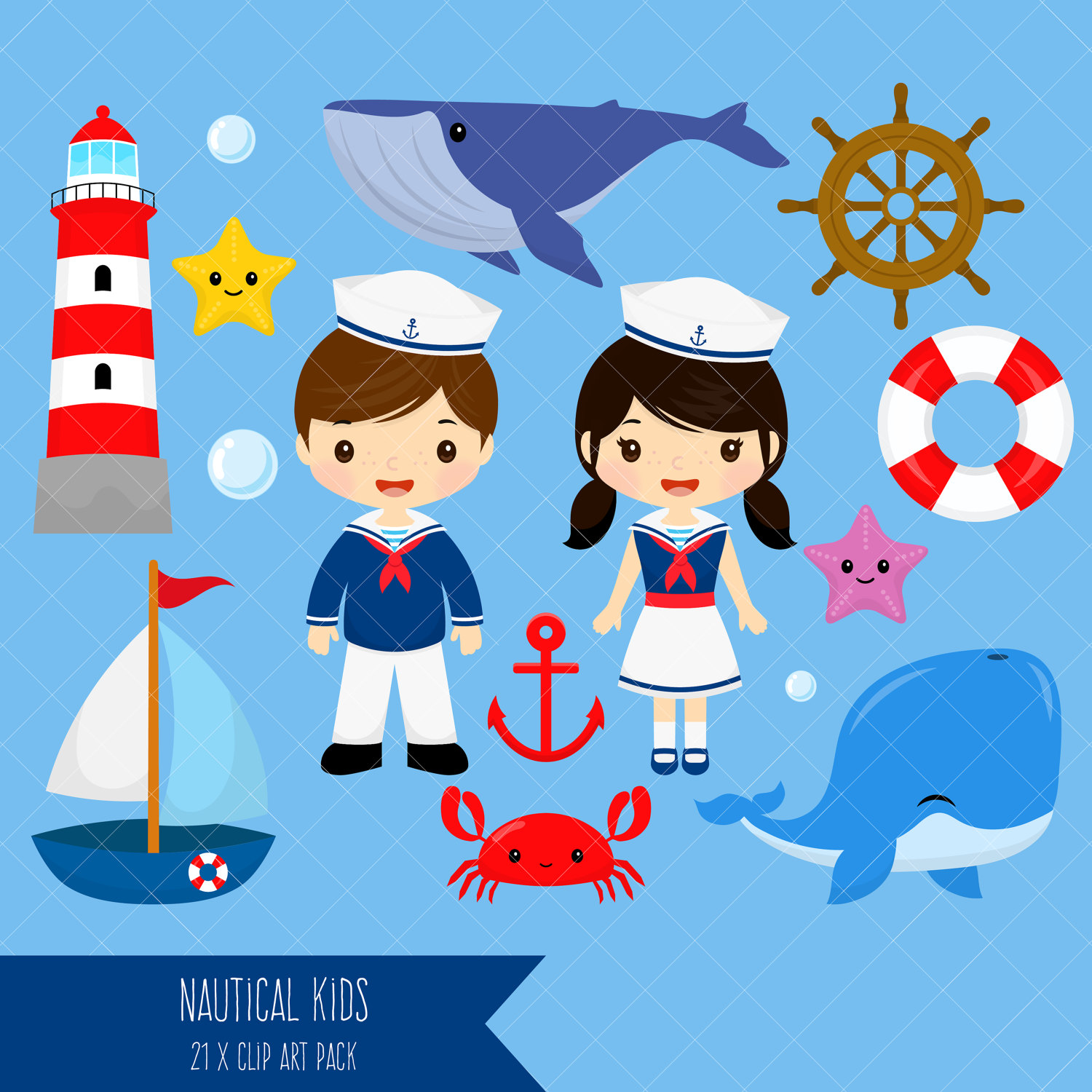 1500x1500 Nautical Kids Clipart Sailor Boy Clip Art Sailor Girl Clip