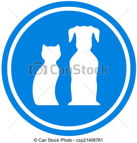 450x468 Pet Blue Icon Pet Shop Isolated Emblem Vector