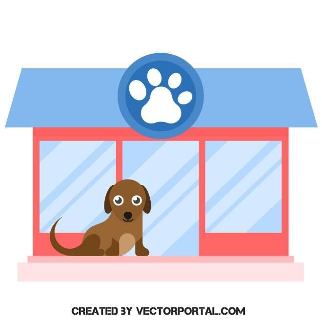 660x660 Pet Shop Vector Image