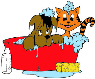 329x275 Cat And Dog Grooming Clipart