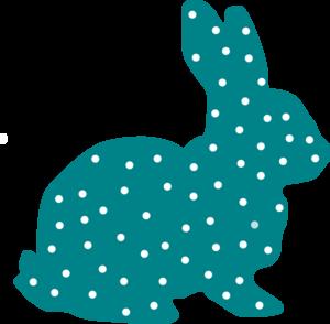 300x294 Bunny Polka Dot Silhouette Clip Art Quilting
