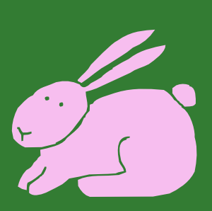 300x298 Pink Rabbit Art Hop To Free Rabbit Clip Art Leporidae