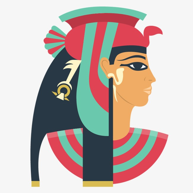 650x650 Egyptian People Female Side, Egypt Element, Pharaoh Avatar, Vector