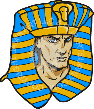 311x361 Pharaoh Head In Color