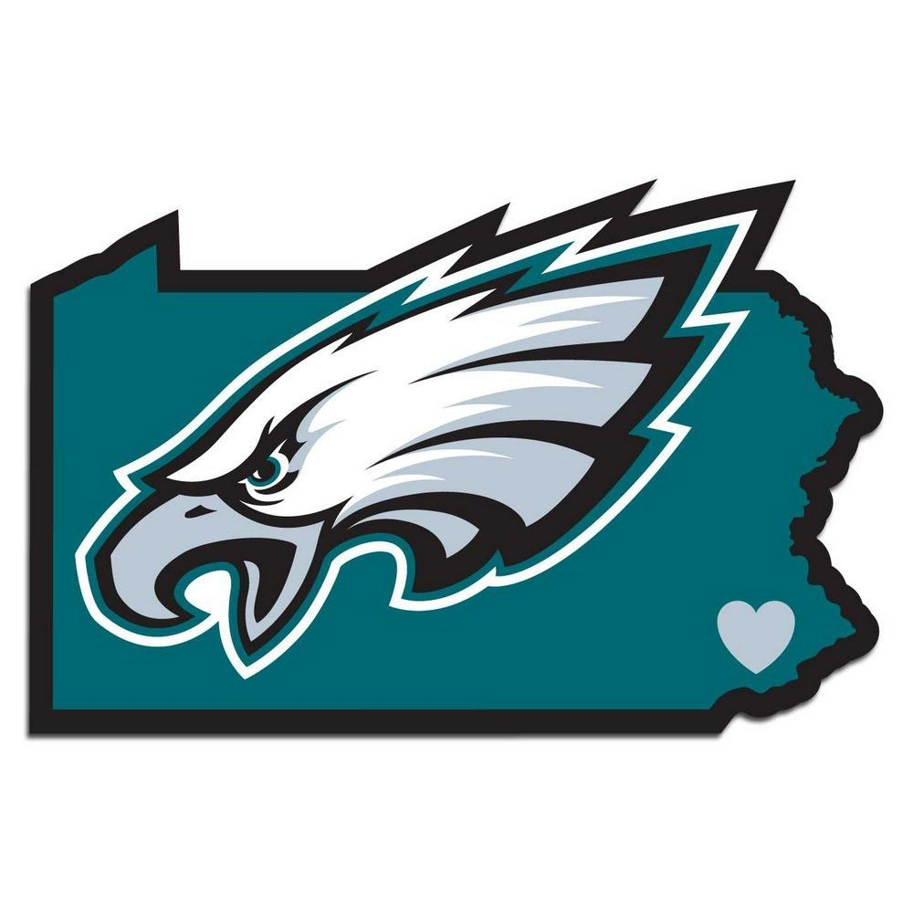 1000x1000 Philadelphia Eagles Home State Decal Fhsd065 Philly's Flying