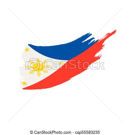 450x470 Philippines Flag, Vector Illustration On A White Background