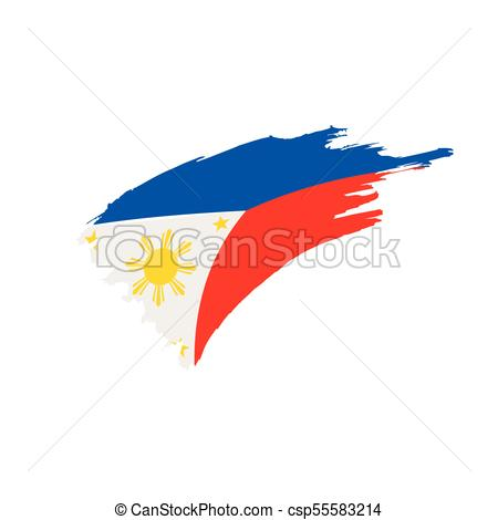 450x470 Philippines Flag, Vector Illustration On A White Background Vector