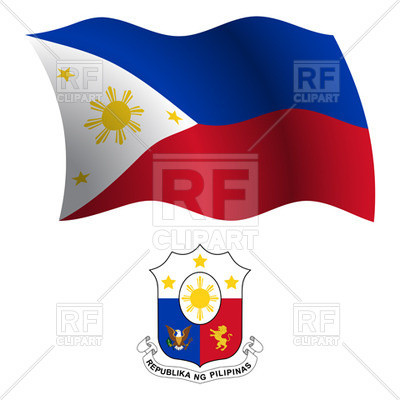 400x400 Philippines Flag And Coat Of Arms Royalty Free Vector Clip Art