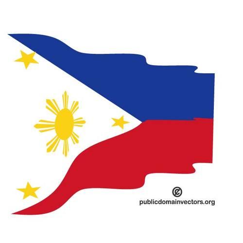 500x500 Wavy Flag Of Philippines Public Domain Vectors