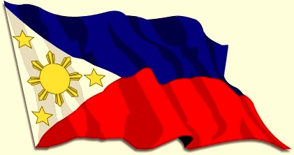 421x222 Philippine Flag Hanging In A Flag Pole Clipart