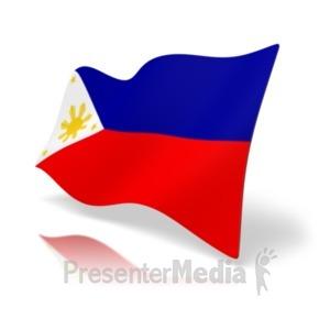 300x300 Philippines Flag Perspective Anim