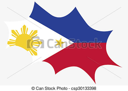 450x320 Explosion With The Flag Of Philippines. An Explosion With Stock