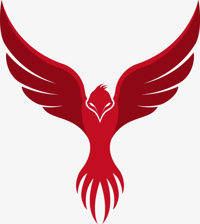 650x725 Red Phoenix Contour, Decoration, Vector, Red Png And Vector