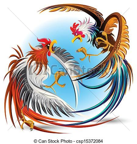 450x470 Cock Fighting Vector Clip Art Royalty Free. 178 Cock Fighting