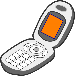 297x300 Cell Phones Clipart Cell Phone Grey Orange Clip Art