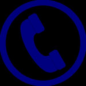 300x300 Blue Phone Clip Art