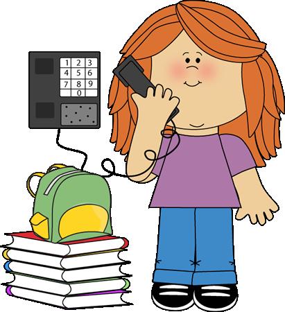 411x450 Classroom Phone Monitor Clip Art