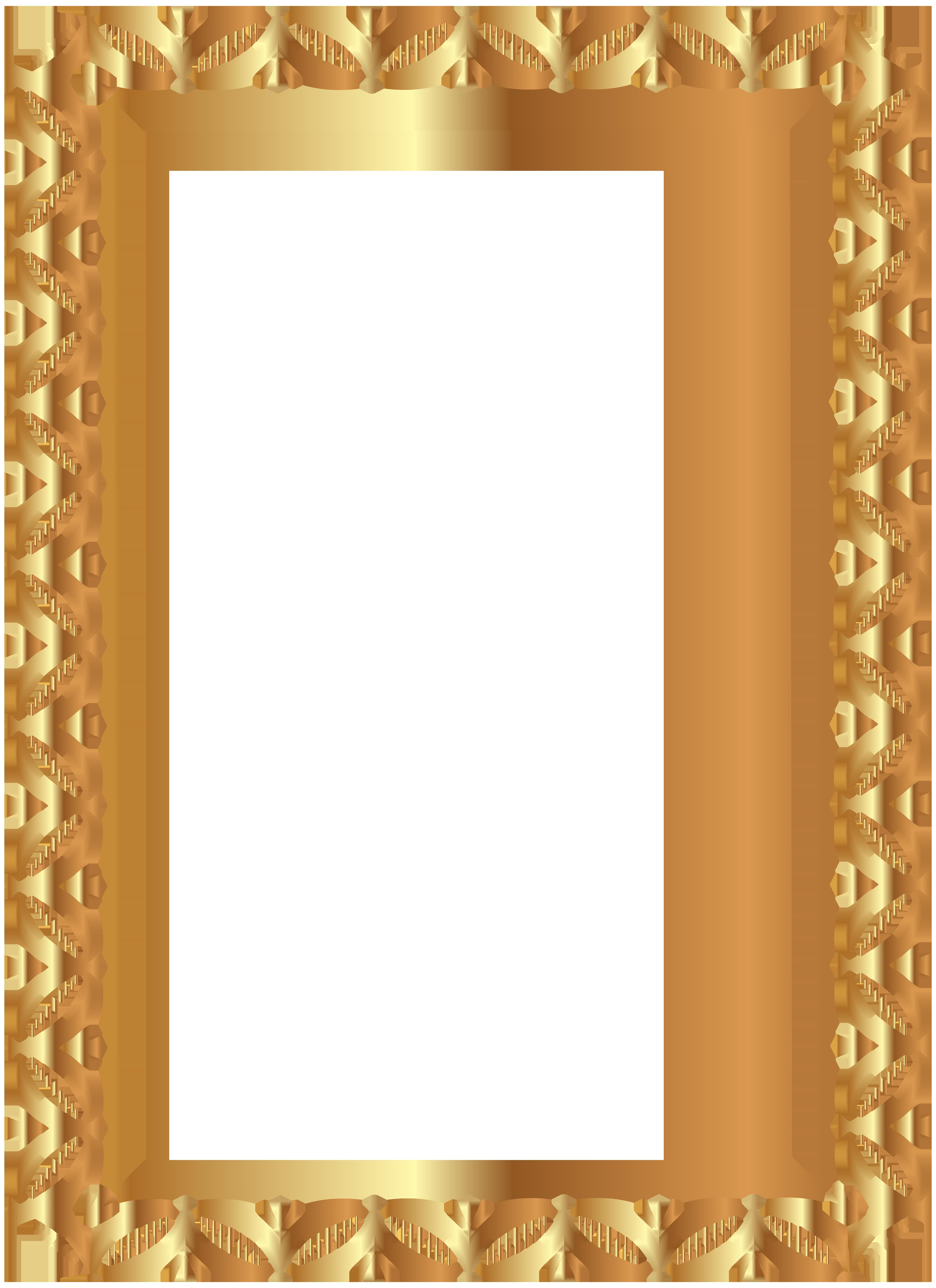 5814x8000 Gold Border Frame Transparent Png Clip Art Image 58148000