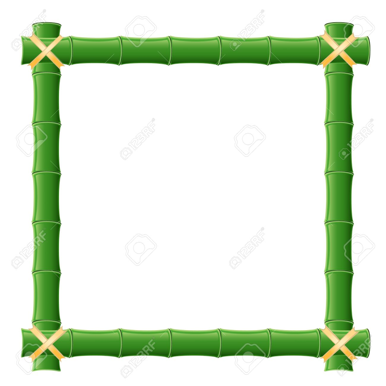 1300x1300 Bamboo Frame Clipart