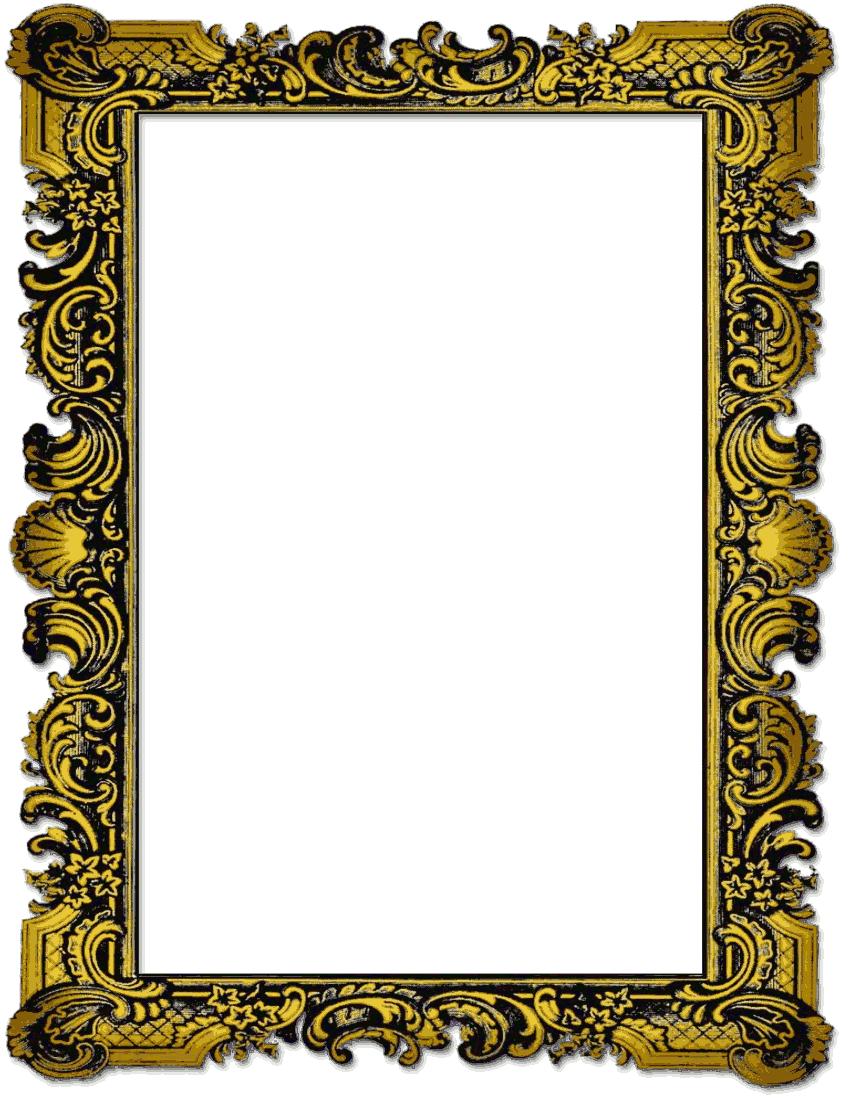 850x1100 Vintage Picture Frame Clip Art Free Clipart Images