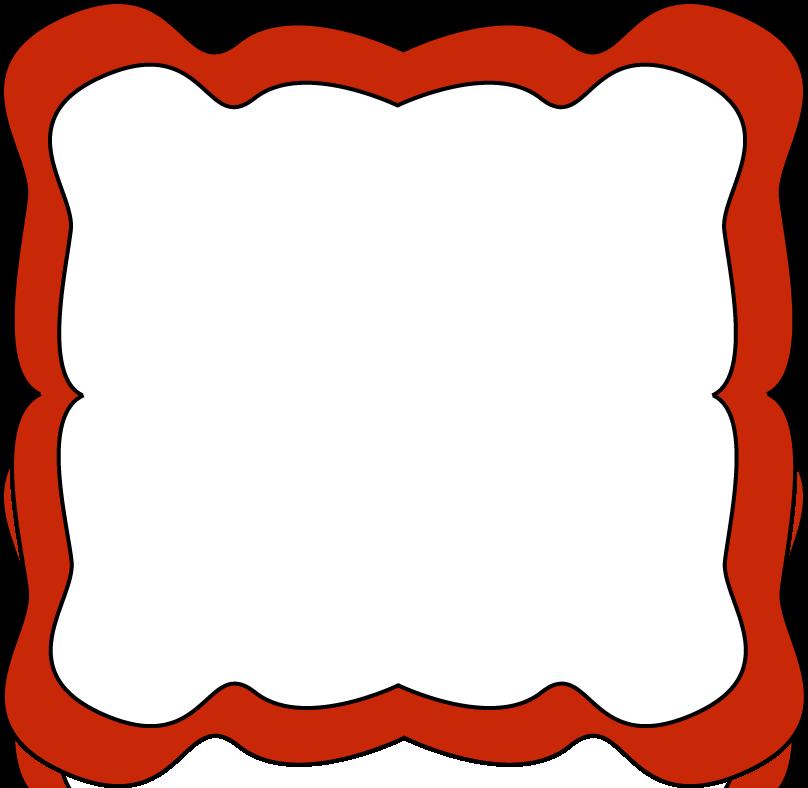 808x788 School Carnival Clip Art Red Curvy Frame