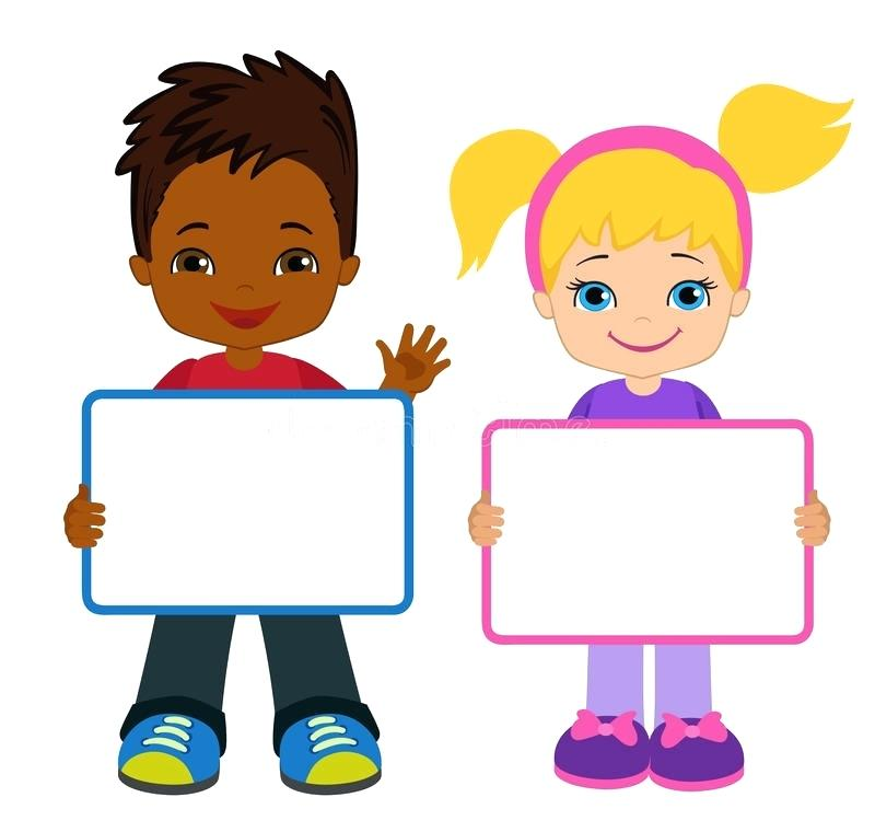 800x760 Board Clip Art Download Kids With Signs Kids Frame Board Child