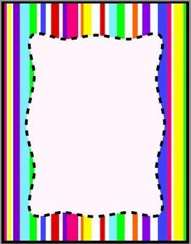 274x350 Colorful Stripes Frames, Borders, Background Clip Art Digital