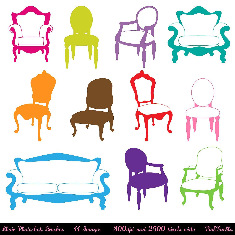 1500x1500 Chair Photoshop Brushes, Furniture Photoshop Brushes, Decor