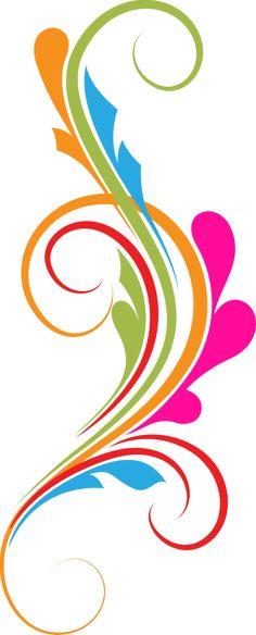 236x584 Flower Swirl Clip Art Free Photoshop Flourish Swirls Vectors