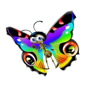 300x300 Photoshop Clipart 3d Butterfly Free Collection Download