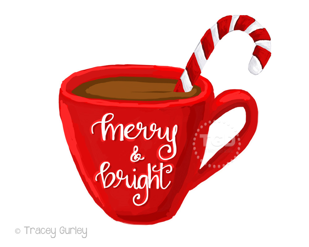 1000x800 Merry And Bright Hot Cocoa Clipart, Coffee Cup Clipart
