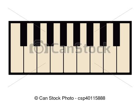 450x323 Piano Keyboard Instrument Design. Piano Icon. Instrument Vector