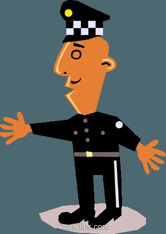 340x480 Funky Policial Picasso Livre De Direitos Vetores Clip Art