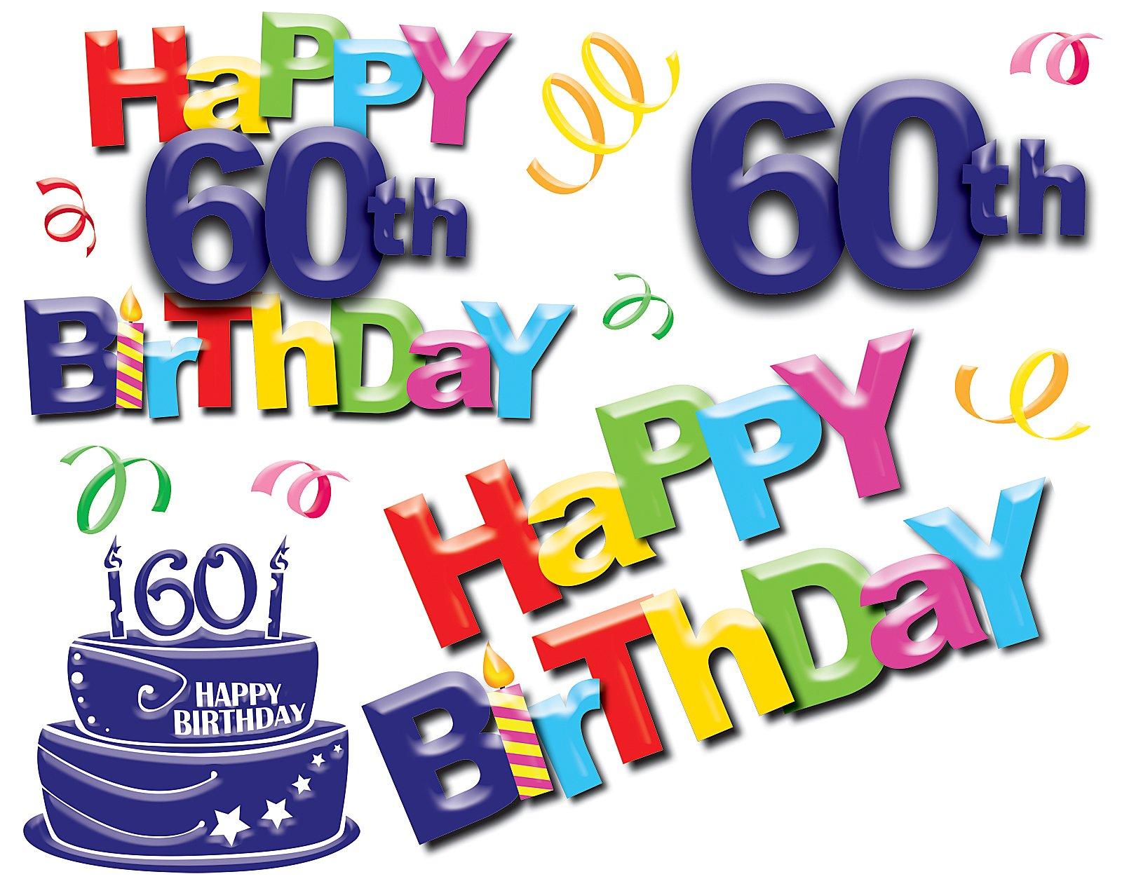 1600x1274 60 Birthday Background Clipart