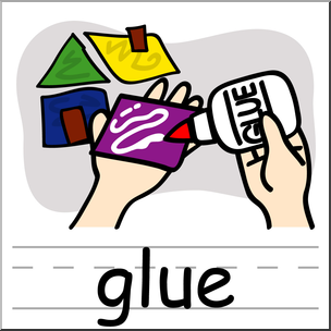 304x304 Clip Art Basic Words Glue Color Labeled I Abcteach