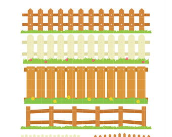 340x270 House With Picket Fence Clipart