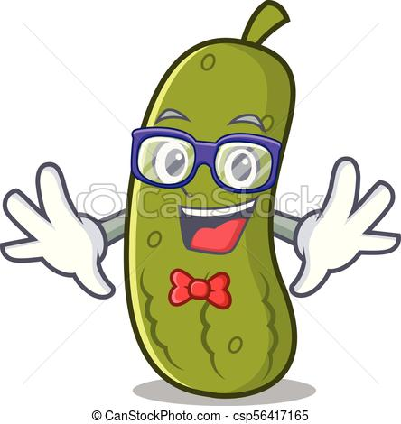 444x470 Geek Pickle Character Cartoon Style Vector Illustration Clip Art