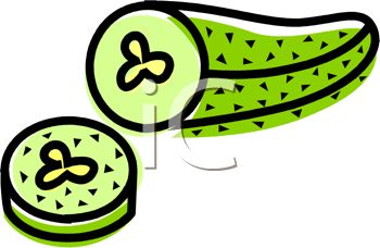 350x228 Picture Of A Pickle With A Piece Cut Off In A Vector Clip Art