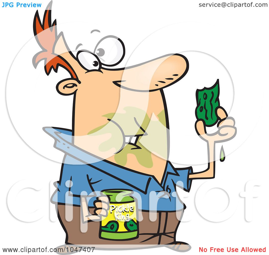 1080x1024 Royalty Free (Rf) Clip Art Illustration Of A Cartoon Messy Man