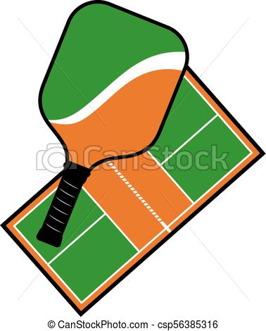 378x470 Creative Design Of Pickleball Racket And Court Vector Clip Art
