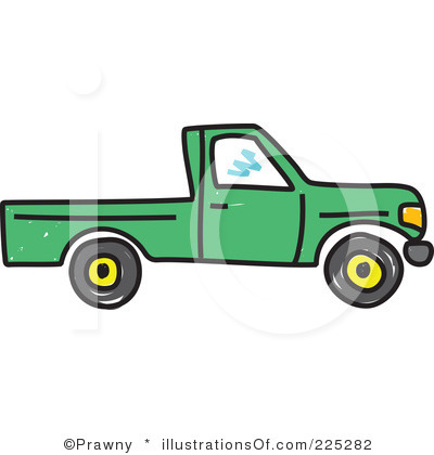 400x420 Pick Up Truck Black And White Clipart