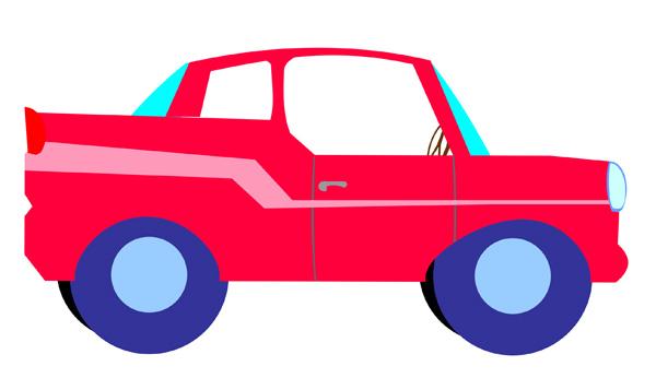 600x346 Little Car Clipart