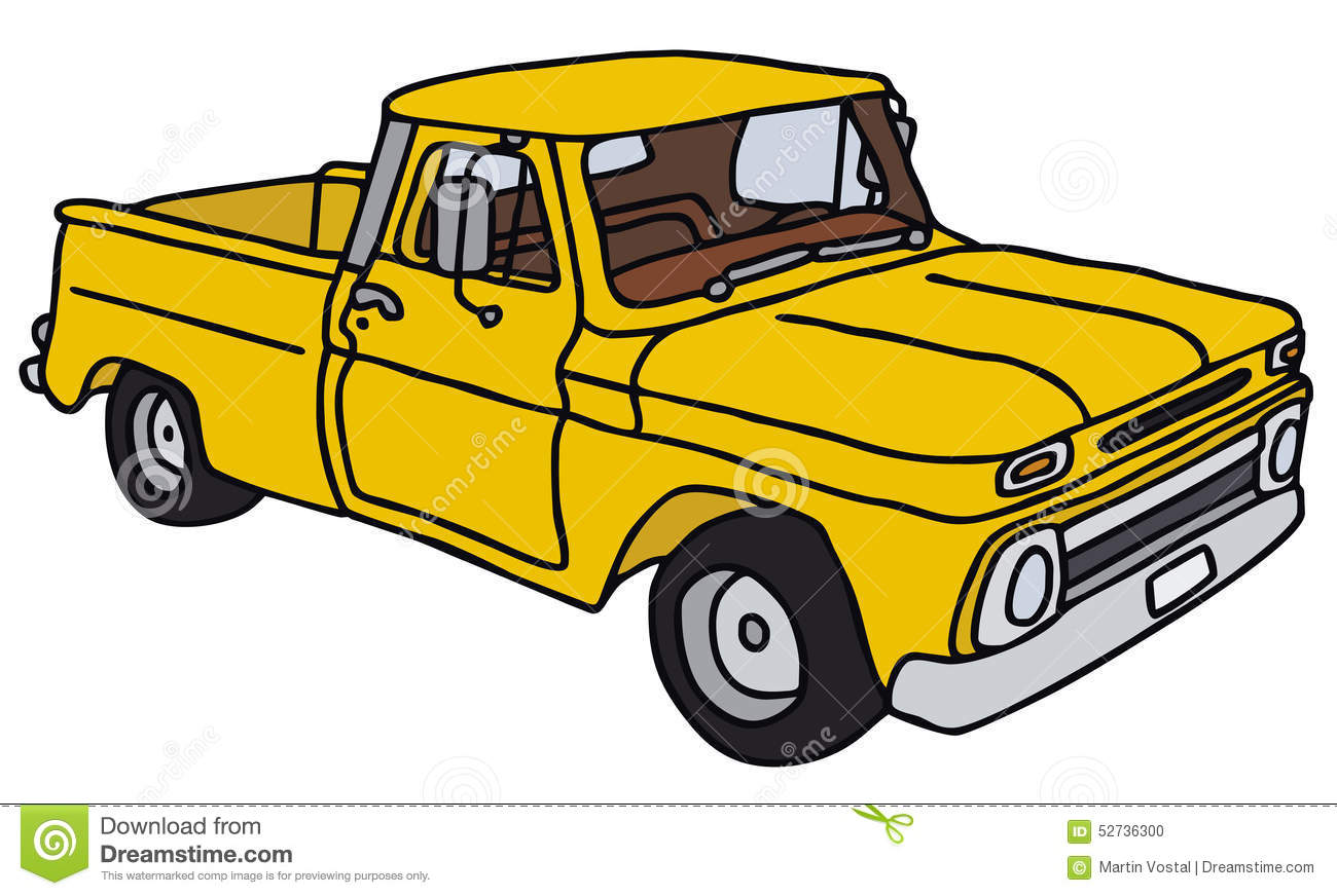 1300x872 Old Truck Clipart Old Yellow Pick Up Small Truck Vector